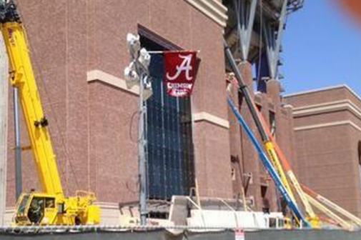 Construction Worker Trolls Texas A&M by Hanging Alabama Flag at Kyle Field