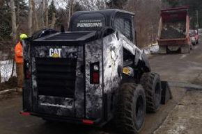 Penguins Fan Drives Away with Customized Skid Steer