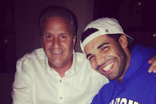 John Calipari Dines with Drake, Calls Him a 'Good Friend'