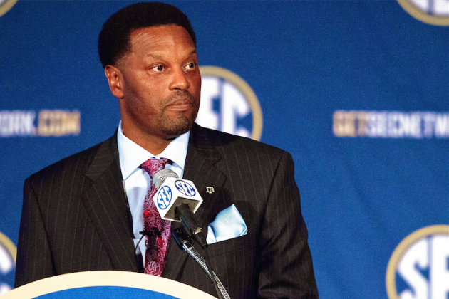 With Manziel Gone, Kevin Sumlin Focused on Texas A&M's Defense at SEC Media Days