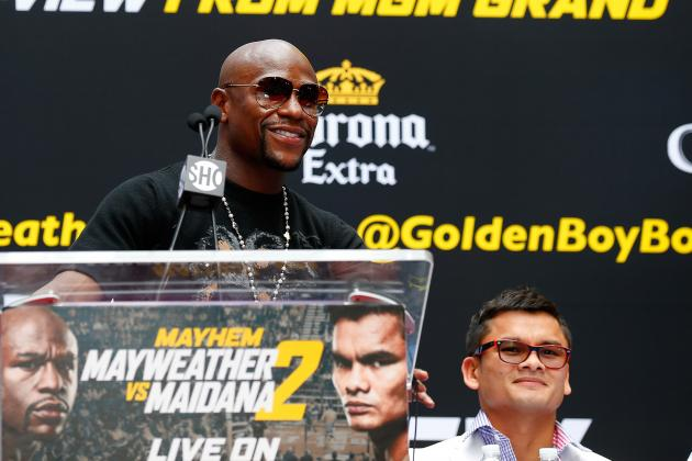 Marcos Maidana Rematch Putting the Chip Back on Floyd Mayweather's Shoulder