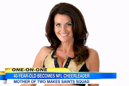 40-Year-Old Mother of 2 Realizes Dream of Becoming NFL Cheerleader