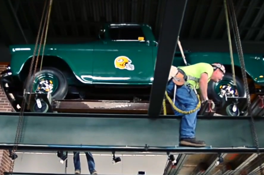 1957 Chevy Moves to New Packers Pro Shop