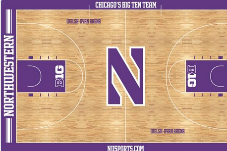 Photo: Check out Northwestern Basketball's New Court Design