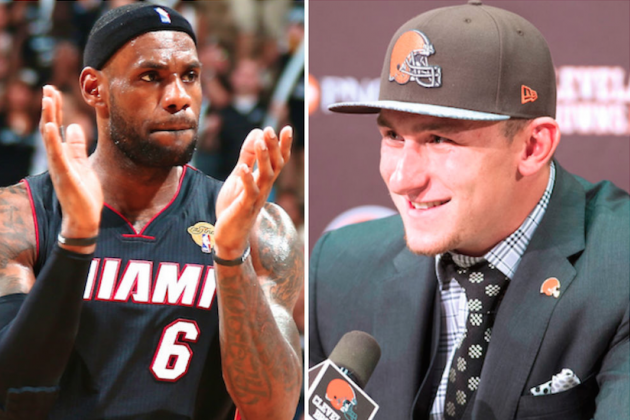 Mike Freeman's 10-Point Stance: Browns Hoping Manziel Learns from LeBron