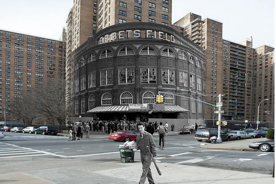 Image: Eery Look at Ebbets Field in Present-Day Brooklyn