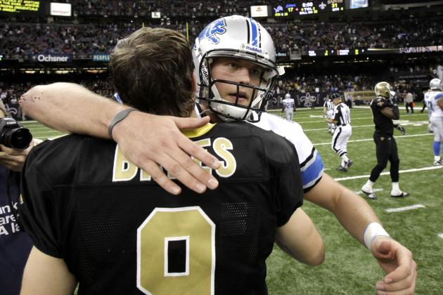 Matthew Stafford Can Find Blueprint for Success in Drew Brees, Saints Offense