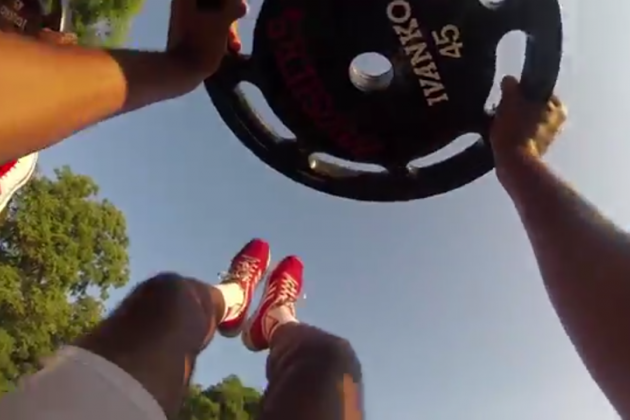 Indiana's Ferrell and Johnson Wear GoPros for Team Workout