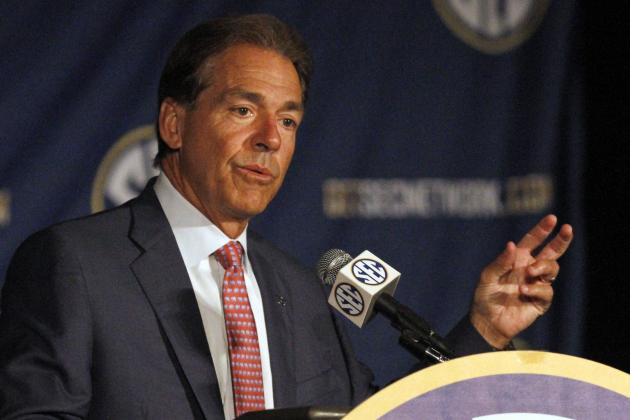 Biggest Takeaways from Alabama Head Coach Nick Saban's SEC Media Days Presser
