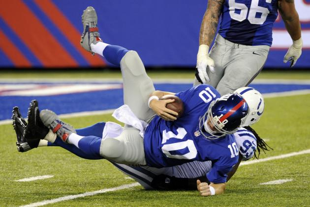 Revamped Offensive Line Far from New York Giants' Key to Redemption