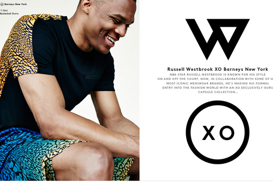 Russell Westbrook Releases Fashion Line in Cooperation with Barneys New York