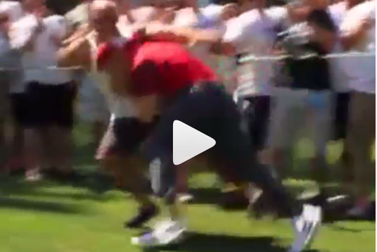 A.J. Hawk Tackles Fan at Celebrity Golf Tournament