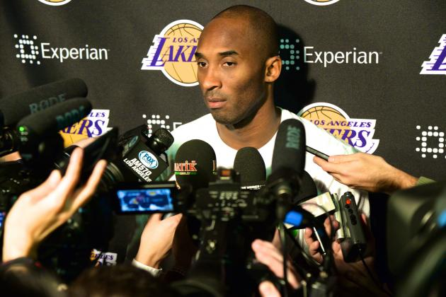 Kobe Bryant Says He's '100 Percent' Happy with Lakers' Efforts to Improve Roster