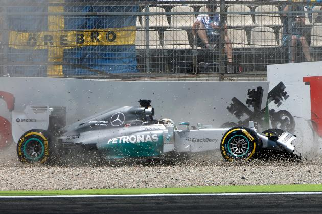 Lewis Hamilton's Qualifying Crash in Germany Won't Prevent Podium Finish