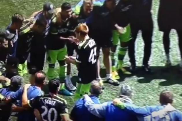 Seattle Sounders Start Make-A-Wish Teen in Friendly Match
