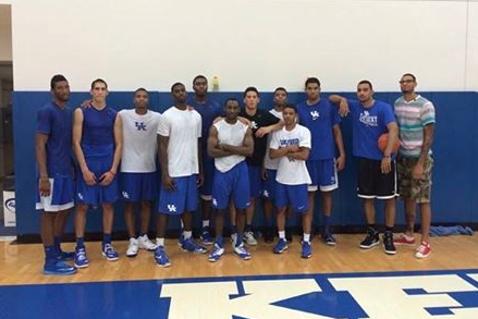 Photo: John Calipari Snapped A Picture Of His Full 2014-15 Kentucky Team