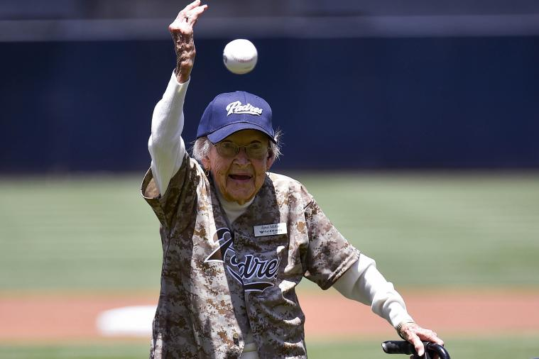 Padres Invite 105-Year-Old to Throw Out 1st Pitch as a Birthday Present