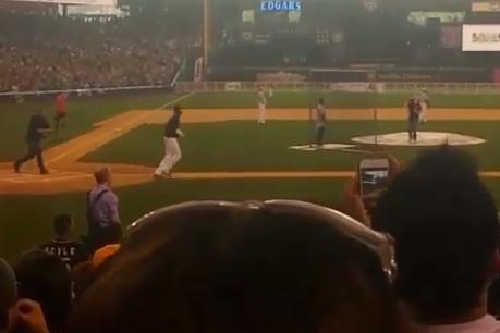 Kobe Bryant Smashes Home Run in Richard Sherman's Celebrity Softball Game
