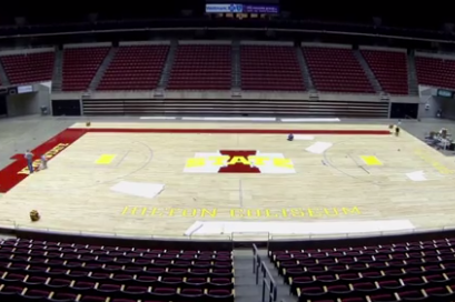 Time-Lapse of Iowa State's Refurbished Court (VIDEO)