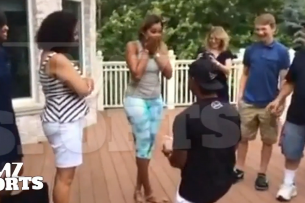 Victor Cruz Pulls Off Marriage Proposal on the Sly in Front of Family, Friends