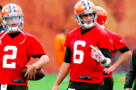 Players '50-50' on Manziel-Hoyer, Pettine Calls Battle Even