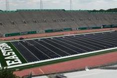 Gray Turf Installation Underway at EMU 'S Stadium