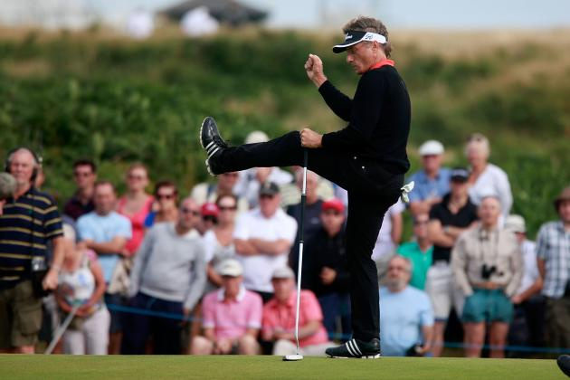 Senior British Open 2014: Daily Leaderboard Analysis, Highlights and More