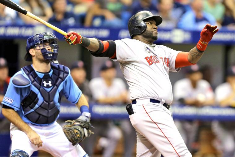 David Ortiz Crushes 3-Run Homer vs. Rays, Flips Bat Like an Absolute Boss