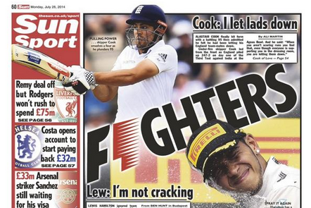 UK Back Pages: Lewis Hamilton Row, Kevin Strootman's Bloated Fee and More