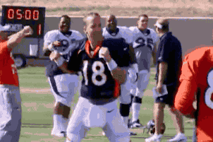 Former Tennessee QB Peyton Manning Dances to 'Rocky Top' During Broncos Practice