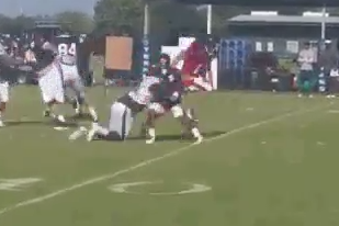 Jadeveon Clowney Shows Freakish Speed, Spares RB at Training Camp