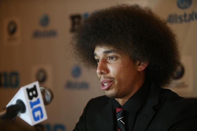Kenny Bell Sports Afro at Big Ten Media Days