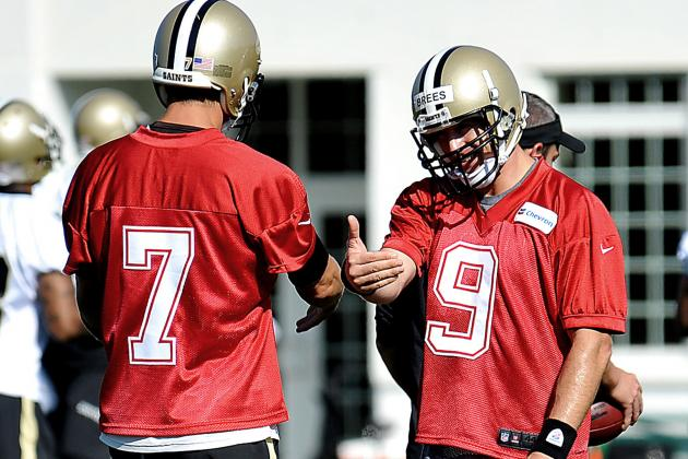 Saints QB Competition Draws out Best in Brees, Teammates