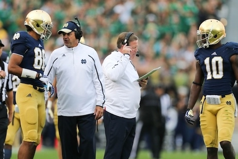 Notre Dame Football: Once Again, Brian Kelly Puts His Faith in Mike Denbrock