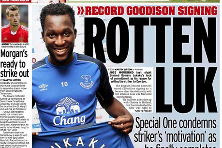 UK Back Pages: Romelu Lukaku's Permanent Move to Everton Owns the Day