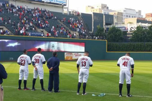 Photo: Indians Wear Socks Up in Honor of Masterson