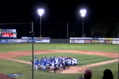 Minor League Managers Brawl, Get Ejected in Bench-Clearing Brawl