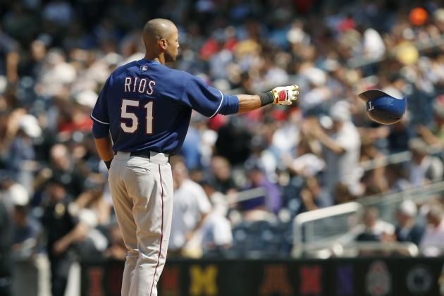 Is Alex Rios in Texas Rangers Lineup for Last Time Ever?