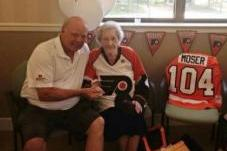 104-Year-Old Flyers Fan Gets Big Birthday Surprise