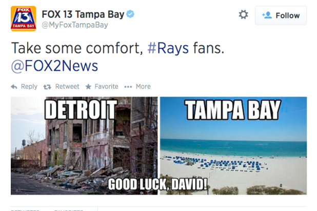 Tampa Bay News Channel Takes Shot at City of Detroit After David Price Trade
