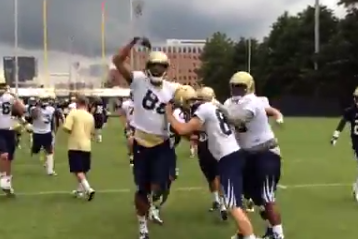 Video: Georgia Tech Kicker Butker Saves Teammates from Sprints