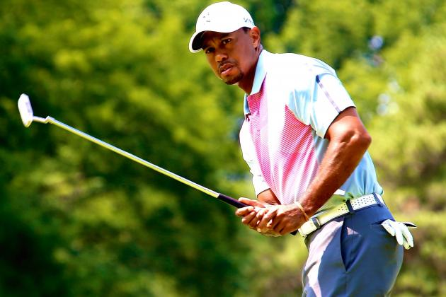 Tiger Woods Battling to Find Himself at 2014 WGC-Bridgestone at Firestone