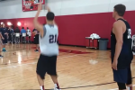 Korver, Klay Thompson in 3-Point Shootout at USA Practice