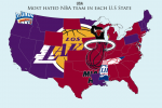The Most-Hated NBA Teams by State