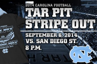 Photo: UNC Asking Fans for Blue/Black 'Stripe Out' Against San Diego State