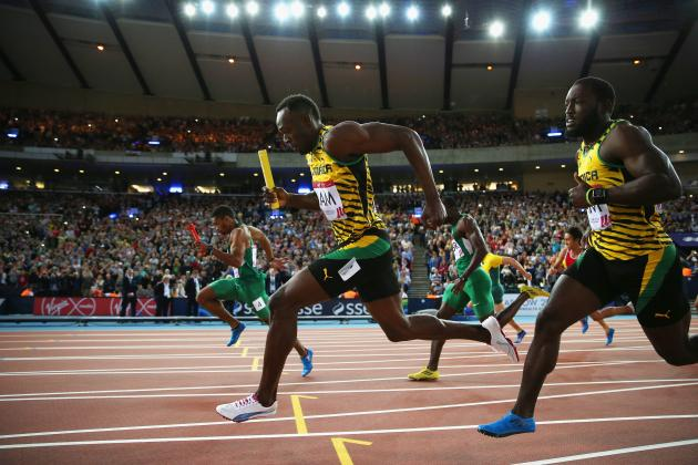 Usain Bolt, Jamaica Place 1st in Commonwealth Games Men's 4X100 Relay Round 1