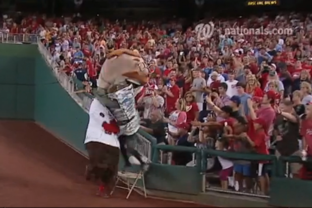Watch a Sharknado Ruin the Washington Nationals Presidents Race Again