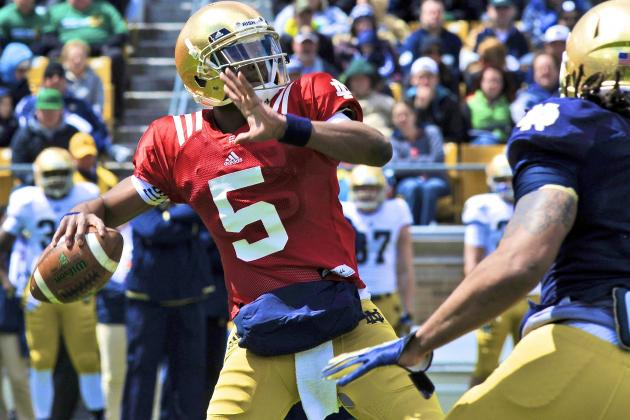 Everett Golson vs. Malik Zaire: Updates on Notre Dame's QB Battle