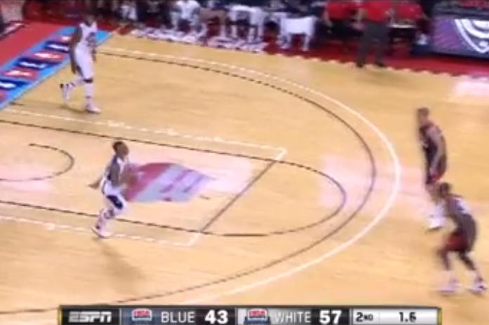Damian Lillard Hits 3-Quarter-Court Buzzer-Beater During Team USA Scrimmage
