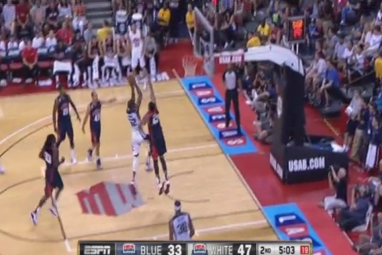 Kevin Durant Blows Past Anthony Davis for a Big Dunk
